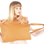 Leather tote bag by Hana Coufalova