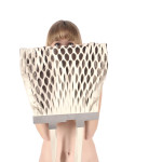 Leather net bag by Hana Coufalova